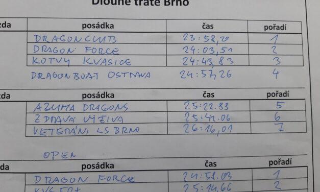 Výsledky závodu Dlouhé tratě Brno 2020