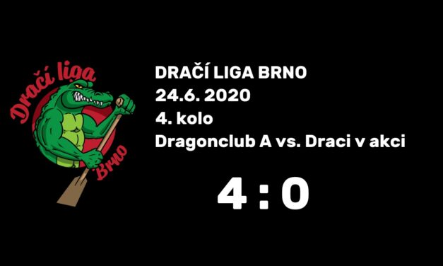 DLB 4. kolo, 24.6. 2020 – Dragonclub A vs. Draci v akci