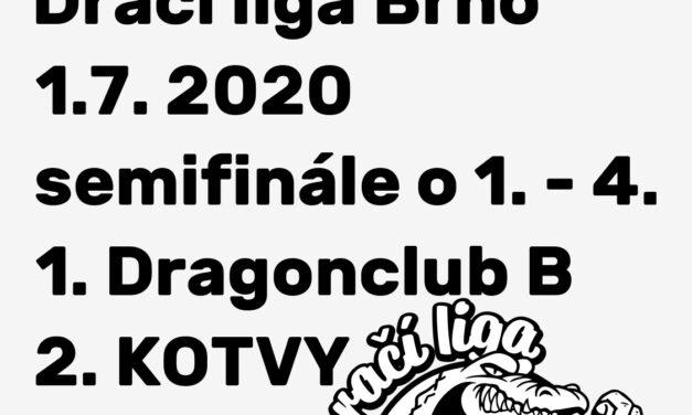 DLB, 1.7. 2020, SEMIFINÁLE O 1.-4. MÍSTO – Dragonclub B vs. KOTVY
